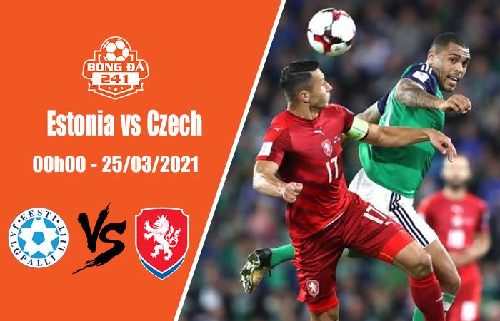 Soi kèo Vòng loại World Cup 2022, Estonia vs Czech, 00h00 ngày 25/3