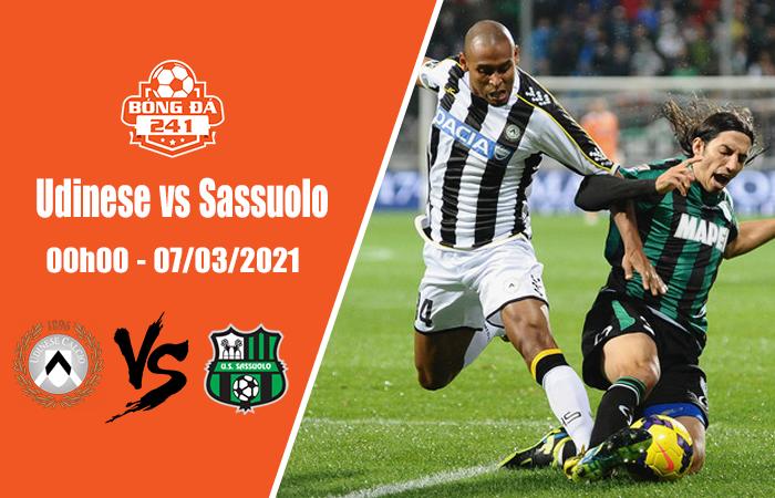 Soi kèo Udinese vs Sassuolo, 00h00 ngày 7/3 Serie A