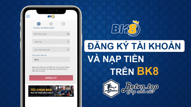 Cách đăng ký tài khoản BK8 dành cho những người chơi mới lần đầu tham gia