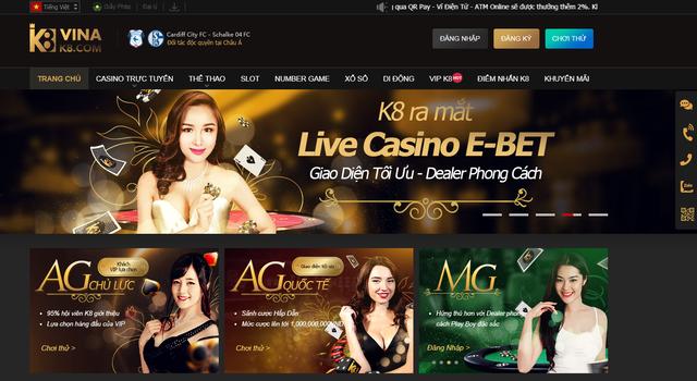 K8 là sòng bạc trực tuyến lớn nhất và đáng tin cậy nhất